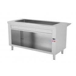 Mueble autoservicio self service con baño maría seco