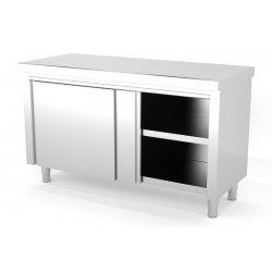 Mueble neutro central con puertas correderas. Fondo 600