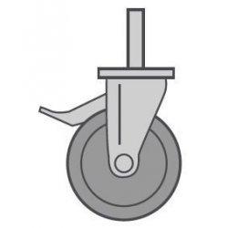 4 ruedas (2 con frenos) para soporte