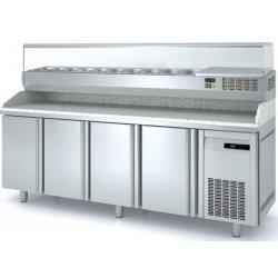 Mesa fría para pizza de 4 puertas 40x60