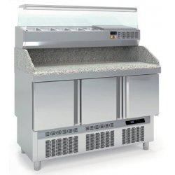 Mesa fría para pizza compacta 3 puertas maxi GN1/1 320L