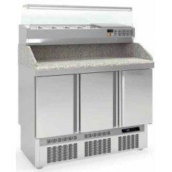 Mesa fría para pizza compacta 3 puertas maxi GN1/1 450L