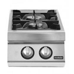 Cocina gas 2 fuegos Fondo 700 Sobremesa Pratika
