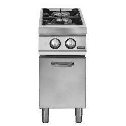 Cocina a gas 2 fuegos Fondo 700 Base con puerta Pratika