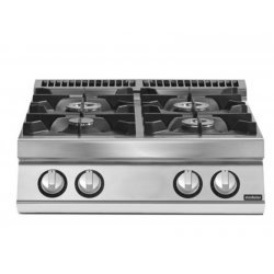 Cocina gas 4 fuegos Fondo 700 Sobremesa Pratika