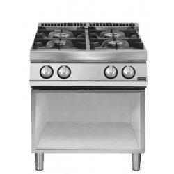 Cocina a gas 4 fuegos Fondo 700 Base abierta Pratika