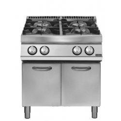 Cocina a gas 4 fuegos Fondo 700 Base con puerta Pratika