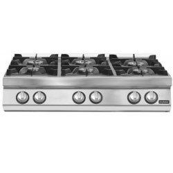 Cocina gas 6 fuegos Fondo 900 Sobremesa Pratika