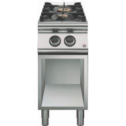Cocina a gas a 2 fuegos Fondo 700 Base abierta Emotion