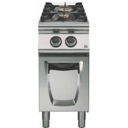 Cocina a gas a 2 fuegos Fondo 700 Base con puerta Emotion