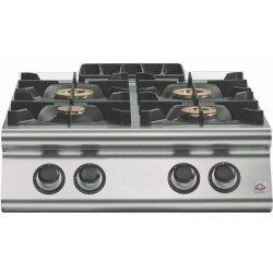 Cocina a gas a 4 fuegos Fondo 700 Sobremesa Emotion