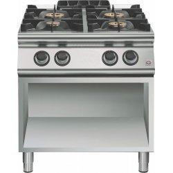 Cocina a gas a 4 fuegos Fondo 700 Base abierta Emotion