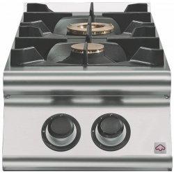 Cocina a gas 2 fuegos Fondo 900 Sobremesa Emotion