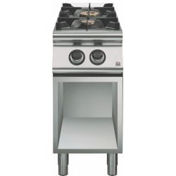 Cocina a gas 2 fuegos Fondo 900 Base abierta Emotion