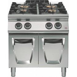 Cocina a gas 4 fuegos Fondo 900 Base con puerta Emotion