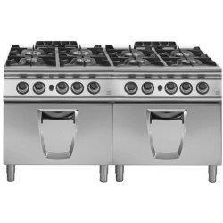 Cocina a gas 8 fuegos con 2 hornos gas GN 2/1 Fondo 900 Emotion