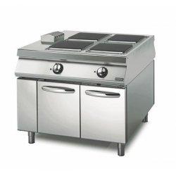 Cocina eléctrica Base con puerta 4 fuegos cuadrados Fondo 1100 Sensation