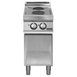 Cocina eléctrica de base abierta 2 fuegos redondos Fondo 700 Pratika