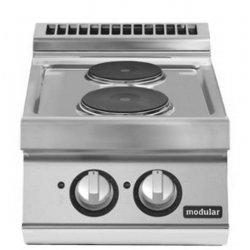Cocina eléctrica de sobremesa 2 fuegos redondos Fondo 700 Pratika