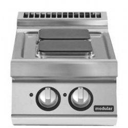 Cocina eléctrica de sobremesa 2 fuegos cuadrados Fondo 700 Pratika