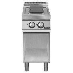 Cocina eléctrica de base abierta 2 fuegos cuadrados Fondo 700 Pratika