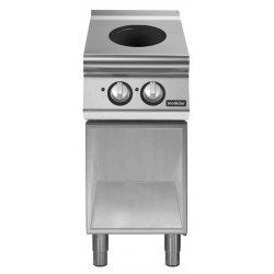 Cocina inducción de base abierta 2 zonas de cocción Ø 220 Fondo 700 Pratika
