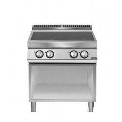 Cocina inducción sobre base con abierta 4 zonas de cocción Ø 220 Fondo 700 Pratika