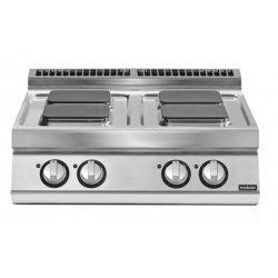 Cocinas eléctrica de sobremesa con 4 fuegos cuadrados Fondo 900 Pratika