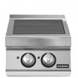 Cocina eléctrica con 2 planchas basculantes de sobremesa Fondo 900 Pratika