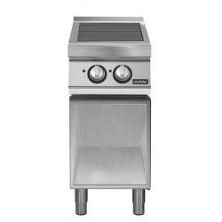 Cocina eléctrica con 2 planchas basculantes de base abierta Fondo 900 Pratika