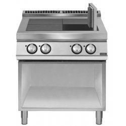 Cocina eléctrica con 4 planchas basculantes de base abierta Fondo 900 Pratika