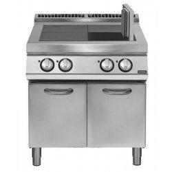 Cocina eléctrica con 4 planchas basculantes sobre base con puerta Fondo 900 Pratika