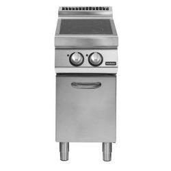 Cocina vitrocerámicas sobre base con puerta 2 zonas de cocción Fondo 900 Pratika