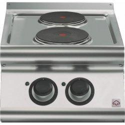 Cocina eléctrica de sobremesa 2 fuegos redondos Fondo 700 Emotion