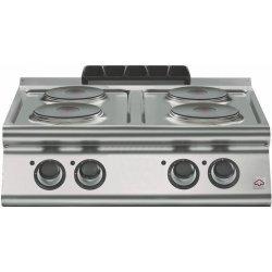Cocina eléctrica de sobremesa 4 fuegos redondosFondo 700 Emotion
