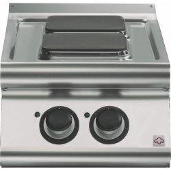 Cocina eléctrica de sobremesa 2 fuegos cuadrados Fondo 700 Emotion