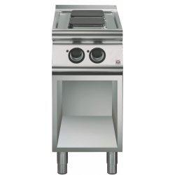 Cocina eléctrica de base abierta 2 fuegos cuadrados Fondo 700 Emotion