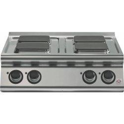 Cocinas eléctrica de sobremesa 4 fuegos cuadrados Fondo 700 Emotion