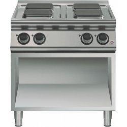 Cocina eléctrica de base abierta 4 fuegos cuadrados Fondo 700 Emotion