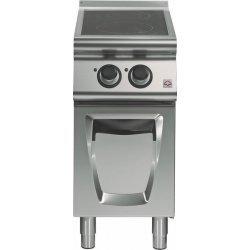 Cocina vitrocerámica sobre base con puerta 2 zonas de cocción Fondo 700 Emotion
