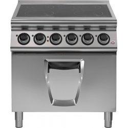 Cocina vitrocerámica de 4 zonas de cocción con horno eléctrico Fondo 700 Emotion