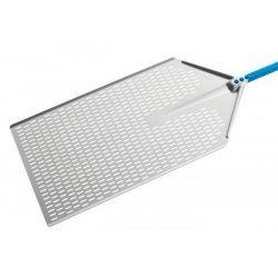 Pala para horno de pizza por metro perforada en aluminio anodizado de 40x60cm y mango de 120cm
