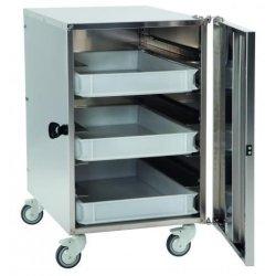 Mueble de transporte de cajas para pizza