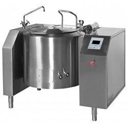 Marmita a gas indirecta con mezclador de 220 Litros PGRM-220 con basculación - 100ºC