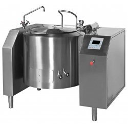 Marmita a gas indirecta con mezclador de 330 Litros PGRM-320 con basculación