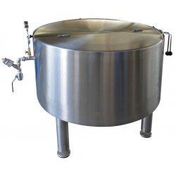 Marmita fija de coccion a vapor con mezclador de 500 litros 152ºC