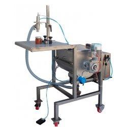Dosificadora llenadora volumetrica con mezclador y tolva calefactada