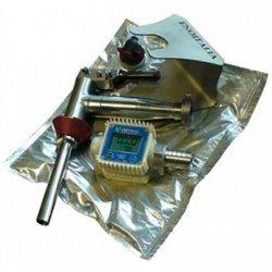Primo Kit - compuesto de pistola en acero inox, caudalímetro digital y placa inox