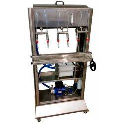Llenadora para líquidos calientes de carro con 6 caños