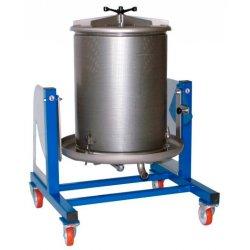 Prensa hidráulica por agua 160 Lt Inox con basculación